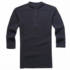 Mens henley shirt V Neck Cotton Linen Hippie Shirts Casual T-Shirt Top wholesale