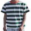 Wholesale striped t-shirt men Lightweight Hip Hop curved hem tee Hipster summer