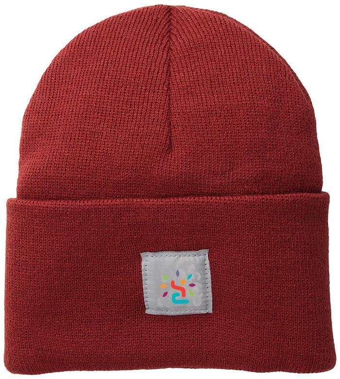 Custom OEM cuff beanie hat beanies winter knitted orange crochet cap watch hat 3