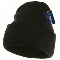 Sumptuous Heavy Ribbed Knit Workwear Snowboard Jersey Beanie Twist-knit Beanie