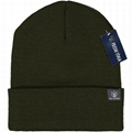 Blended Yarn Twist-knit Beanie With Customized Logo Woven Label Tag Winter Hat