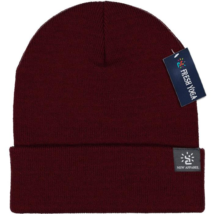 Blended Yarn Twist-knit Beanie With Customized Logo Woven Label Tag Winter Hat 2