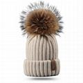 Pom beanie knit winter cashmere hat wool fleece custom knitted toque