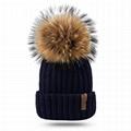 Pom beanie knit winter cashmere hat wool