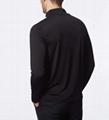 Wholesale Mens Fitted Merino Wool 1/4 Zip Long Sleeve T-Shirt Light Weight Warm