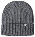 Custom OEM slouchy beanie winter knit skull cap baggy plain cuffed crochet hat