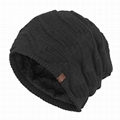 Custom leather patch beanies men baggy