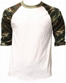 Wholesale baseball t shirt 3/4 sleeve