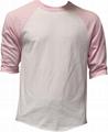 Wholesale baseball t shirt 3/4 sleeve mens raglan plain camo sleeve baseball tee
