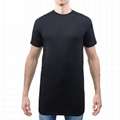 Streetwear Tall Tee Extra Long Line Slim Fit T Shirt 65 Polyester 35 Cotton