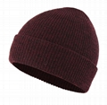 Wholesale skullies beanies hats custom logo fisherman beanie acrylic ski cap