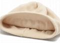 Women's Pure Cashmere beanie hat pom pom Raccoon Fur ball Slouchy Knit Beanie  6