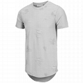 New design t shirt swag plain men's distressed swag t shirts hipster drop tail