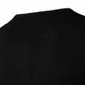 Personalized big V neck t shirt 100 bamboo plain tee shirts custom logo patch