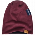 Cotton Slouchy Knit Beanie Skullcap Crochet Oversize Satin Lined Hat Custom Logo 2