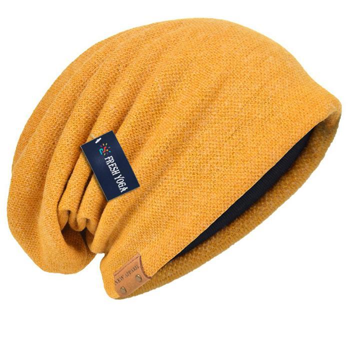 Cotton Slouchy Knit Beanie Skullcap Crochet Oversize Satin Lined Hat Custom Logo 6