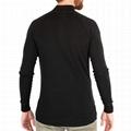 Mens 100% Merino Wool T-shirt Base Layer Half Zipper Sweater Fitted T Shirt