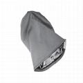 Wholesale satin lined beanie plain women hats woven label beanie custom tags 4