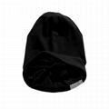 Wholesale satin lined beanie plain women hats woven label beanie custom tags 6