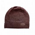 Wholesale cashmere beanie knitted skull cap winter ski hats plain custom logo