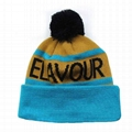 Wholesale new york logo jacquard beanie cap sa us ca uk Knitted embroidery patch 2