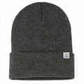 Custom heather Cuffed Beanie for Soft Warm Knit 10 Colors ribbed knit beanies
