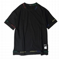 Fashion latest black distressed t-shirtswag hip hop street ripper t shirts tee