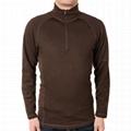 Custom Merino wool shirt mens 1/4 Zip Mock Neck Sweater Nxcaps