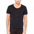 Wholesale sport wear blank distressed t shirts mineral wash running tee shirts