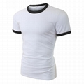 Classic ringer tee mens slim fit t shirts bulk blank tees summer t shirt