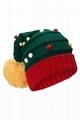 Custom Acrylic led lighting beanie winter warm unisex knitted Christmas hat cap