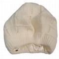 Custom satin lined beanie plain winter hats slouchy crochet pattern beret cap