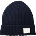 Wholesale Custom Embroidery Beanie Hats baggy 100% Organic Cotton Beanies With L
