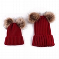 Wholesale mother and baby rib knit fur