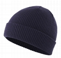 Classic mens tuque Cuff beanies with custom embroidery logo daily crochet hat