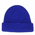 Classic mens tuque beanies with custom embroidery hats warm winter knit cuff bea