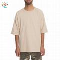Hipster drop shoulder t-shrits oversized blank  60 cotton 40 polyester short