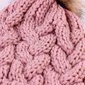 Autumn Winter hat knitted beanie pink warm stripe beanie cap cotton knitted cap