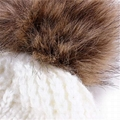 Wholesale fur pompom hat Toddler Baby Kids Warm Winter Wool Crochet Knit Beanie 2