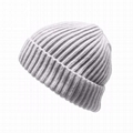 Custom Plain fisherman beanie men knitted hat cuff crochet winter hats