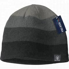 Gray Black Gradient Winter Beanie Hat Cashmere Wool Elegant Elastic Skull Cap