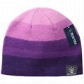 Gray Black Gradient Winter Beanie Hat Cashmere Wool Elegant Elastic Skull Cap 5