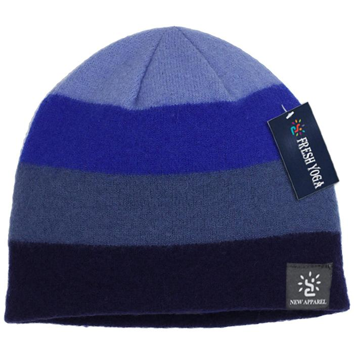 Gray Black Gradient Winter Beanie Hat Cashmere Wool Elegant Elastic Skull Cap 6