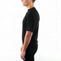 Lightweight merino wool tshirt men tee shirts blank Zipper Up t shirt crew neck