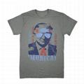 Custom Black T-shirt Election Cheap Slogan Printed 120 gsm T Shirt Donald Trump