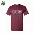 Custom T Shirts Customized Logo Peru Organic Cotton Fabric Fashion Logo T Shirt