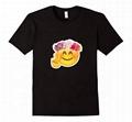 Cute Emoji Shirt With 100% Cotton Couple Matching Cartoons Summer Tees Tops