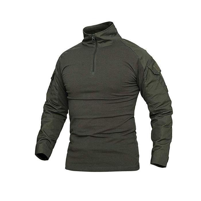 Men Assault Military Army T Shirt Tactical Combat Shirt Long Sleeve Outdoor