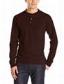 Wholesale henley shirt long sleeve 100%