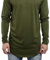 Custom Streetwear T Shirt Men's Long Shirt Long Line Elong Dress Made In China